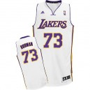 Maillot blanc NBA Dennis Rodman Swingman masculine - Adidas Los Angeles Lakers & remplaçant 73