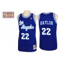 Maillot bleu NBA Elgin Baylor Throwback authentique masculin - Mitchell et Ness Los Angeles Lakers & 22