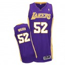 Jersey violet de NBA Jamaal Wilkes authentiques hommes - Adidas Los Angeles Lakers & Road 52
