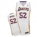 Maillot blanc de NBA Jamaal Wilkes authentiques hommes - Adidas Los Angeles Lakers & remplaçant 52
