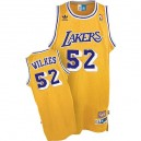Maillot or pour hommes Throwback NBA Jamaal Wilkes Swingman - Adidas Los Angeles Lakers & 52