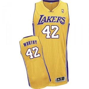 NBA James digne maillot or masculine authentique - Adidas Los Angeles Lakers & maison 42