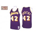 NBA James digne Jersey violet Throwback authentique masculin - Mitchell et Ness Los Angeles Lakers & 42