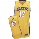 Maillot or NBA Jeremy Lin authentique masculin - Adidas Los Angeles Lakers & 17 Accueil