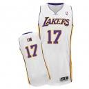 Maillot blanc NBA Jeremy Lin authentique masculin - Adidas Los Angeles Lakers & remplaçant 17
