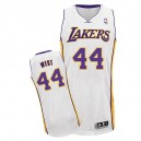 Maillot blanc Ouest authentique masculin Jerry NBA - Adidas Los Angeles Lakers & remplaçant 44