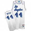 Maillot blanc pour hommes Throwback NBA Jerry West Swingman - Mitchell et Ness Los Angeles Lakers & 44