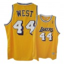 Maillot or Jerry West NBA authentique Throwback masculine - Mitchell et Ness Los Angeles Lakers & 44