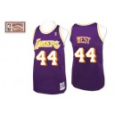 Jersey violet Jerry West NBA Throwback authentique masculin - Mitchell et Ness Los Angeles Lakers & 44