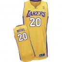 Jersey or de NBA Jodie Meeks authentiques hommes - Adidas Los Angeles Lakers & maison 20