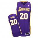 Jersey violet de NBA Jodie Meeks authentiques hommes - Adidas Los Angeles Lakers & route 20
