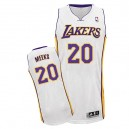 Maillot blanc de NBA Jodie Meeks authentiques hommes - Adidas Los Angeles Lakers & remplaçant 20