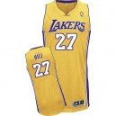 Jersey or de NBA Jordan Hill authentiques hommes - Adidas Los Angeles Lakers & maison 27