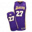 Jersey violet de NBA Jordan Hill authentiques hommes - Adidas Los Angeles Lakers & route 27