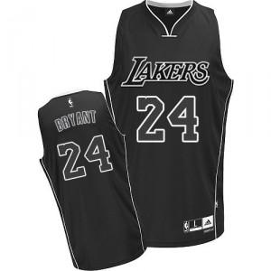 Maillot noir/blanc de NBA Kobe Bryant authentiques hommes - Adidas Los Angeles Lakers & 24