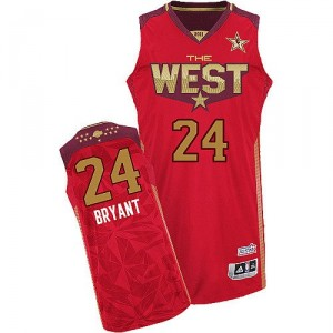 Maillot rouge de NBA Kobe Bryant authentiques hommes - Adidas Los Angeles Lakers & 24 2011 All Star