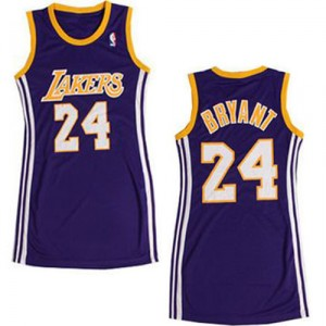 Maillot violet NBA Kobe Bryant authentiques femmes - Adidas Los Angeles Lakers & robe 24