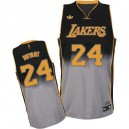 Jersey noir/gris NBA Kobe Bryant Swingman masculine - Adidas Los Angeles Lakers & 24 Fadeaway Fashion