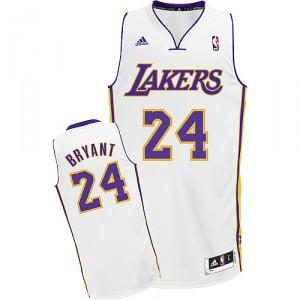 Maillot blanc NBA Kobe Bryant Swingman masculine - Adidas Los Angeles Lakers & remplaçant 24