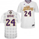 Maillot blanc NBA Kobe Bryant Swingman masculine - Adidas Los Angeles Lakers & latine de New 24 nuits