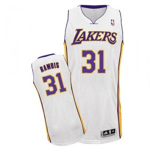 Maillot blanc de Kurt Rambis NBA authentiques hommes - Adidas Los Angeles Lakers & remplaçant 31