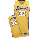 Maillot or authentique masculin NBA Magic Johnson - Adidas Los Angeles Lakers & maison 32