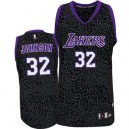 Jersey violet authentique masculin NBA Magic Johnson - Adidas Los Angeles Lakers & 32 Crazy Light