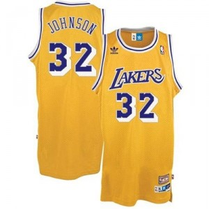 Jeunesse de Throwback NBA Magic Johnson Swingman maillot or - Adidas Los Angeles Lakers & 32