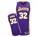 Jersey violet authentique masculin NBA Magic Johnson - Adidas Los Angeles Lakers & route 32