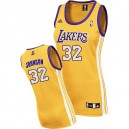 Maillot or NBA Magic Johnson Swingman féminin - Adidas Los Angeles Lakers & maison 32