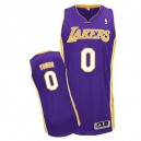 Jersey violet authentique masculin jeune de Nick NBA - Adidas Los Angeles Lakers & route 0