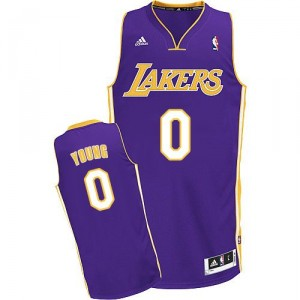 Maillot violet Nick NBA Swingman jeunes hommes - Adidas Los Angeles Lakers & route 0