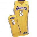 Jersey or de Robert Horry NBA authentiques hommes - Adidas Los Angeles Lakers & maison 5