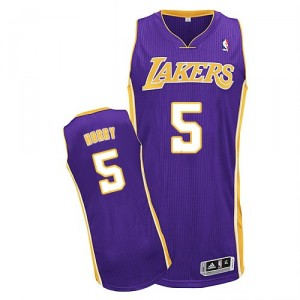 Jersey violet de Robert Horry NBA authentiques hommes - Adidas Los Angeles Lakers & Road 5