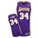 Jersey violet de NBA Shaquille o ' Neal authentiques hommes - Adidas Los Angeles Lakers & route 34