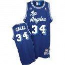 Maillot bleu des hommes Throwback NBA Shaquille o ' Neal Swingman - Nike Los Angeles Lakers & 34
