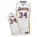 Maillot blanc de NBA Shaquille o ' Neal authentiques hommes - Adidas Los Angeles Lakers & remplaçant 34