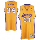 Maillot or pour hommes Throwback NBA Shaquille o ' Neal Swingman - Adidas Los Angeles Lakers & 34