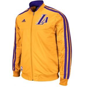 Adidas Los Angeles Lakers sur le Court en semaine Full Zip Track Jacket - or en vente pour les Los Angeles Lakers