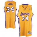 Maillot or NBA Shaquille o ' Neal Throwback authentique masculin - Adidas Los Angeles Lakers & 34