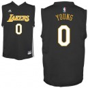 Los Angeles Lakers 0 jeunes Nick Young Replica noir Maillot