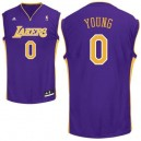 Nick Young Violet Adidas hommes maillot