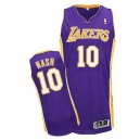 Jersey violet de NBA Steve Nash authentiques hommes - Adidas Los Angeles Lakers & route 10