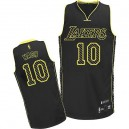 Jersey noir de NBA Steve Nash authentiques hommes - Adidas Los Angeles Lakers & 10 électricité Fashion