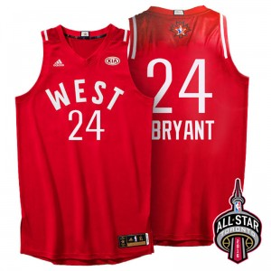 Toronto Conférence All-Star de l'Ouest 24 Kobe Bryant 2016 Rouge Maillot