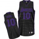 Jersey noir/gris NBA Steve Nash authentique masculin - Adidas Los Angeles Lakers & rainure 10