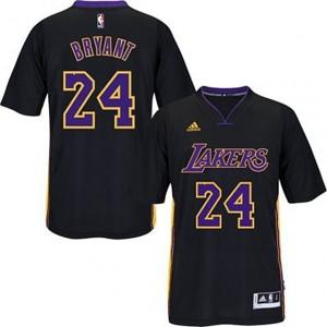 Los Angeles Lakers 24 Kobe Bryant 2014-15 fierté nouveaux Swingman maillots noir manches courtes