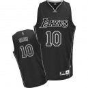 Maillot noir/blanc de NBA Steve Nash authentiques hommes - Adidas Los Angeles Lakers & 10