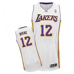 Maillot blanc de NBA Vlade Divac authentiques hommes - Adidas Los Angeles Lakers & remplaçant 12