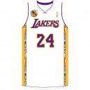Kobe Bryant Los Angeles Lakers 24 Noche Latina maillot blanc